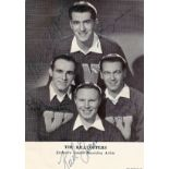 The Hilltoppers Band signed 6x4 music card. Signed by Jimmy Sacca, Donald McGuire, Seymour