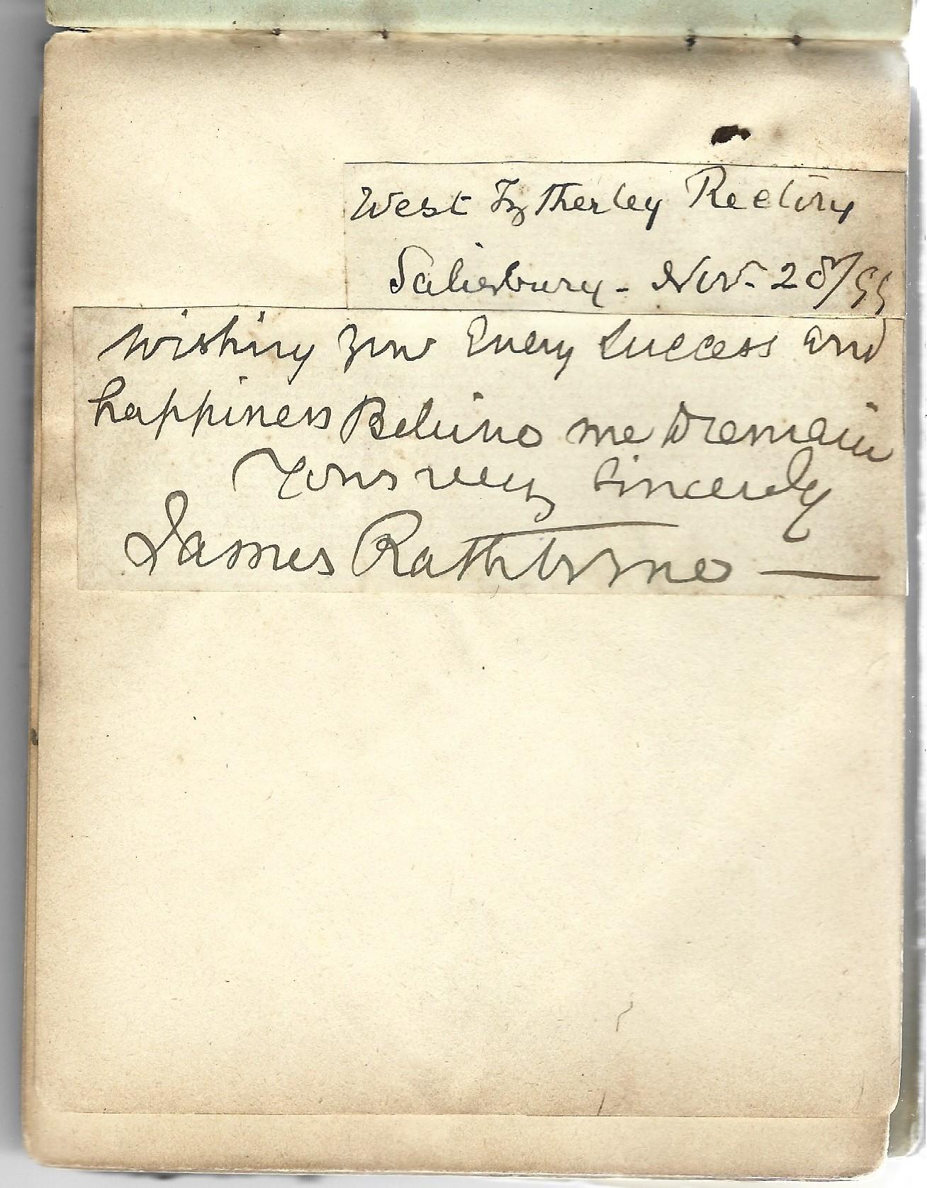 A World War 1 era autograph album, mostly comprising poignant poems and verses, a few original - Image 6 of 8