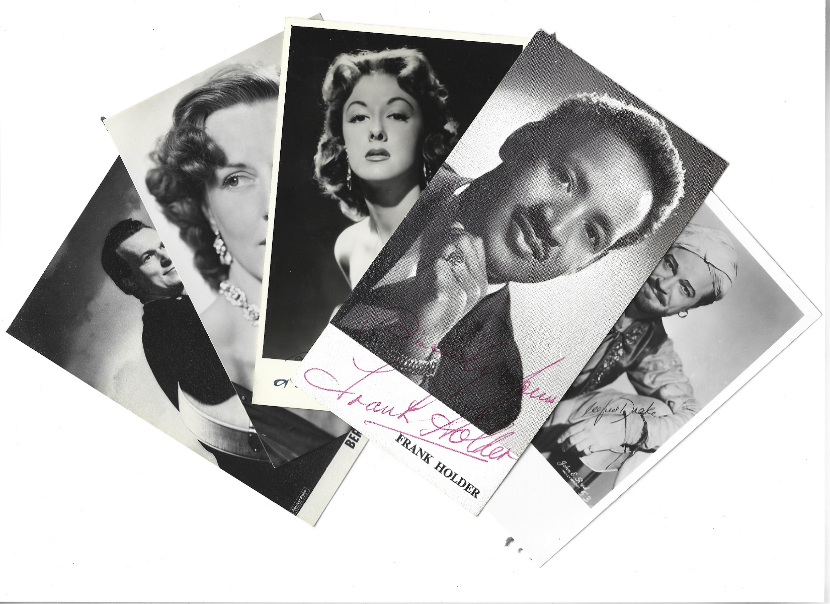 Vintage collection of 80 signed and 14 unsigned entertainment performers. Sizes vary from 9x7 to - Image 4 of 5