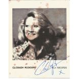 Clodagh Rodgers signed 7x6 black and white promo photograph. Rodgers is a retired singer and actress