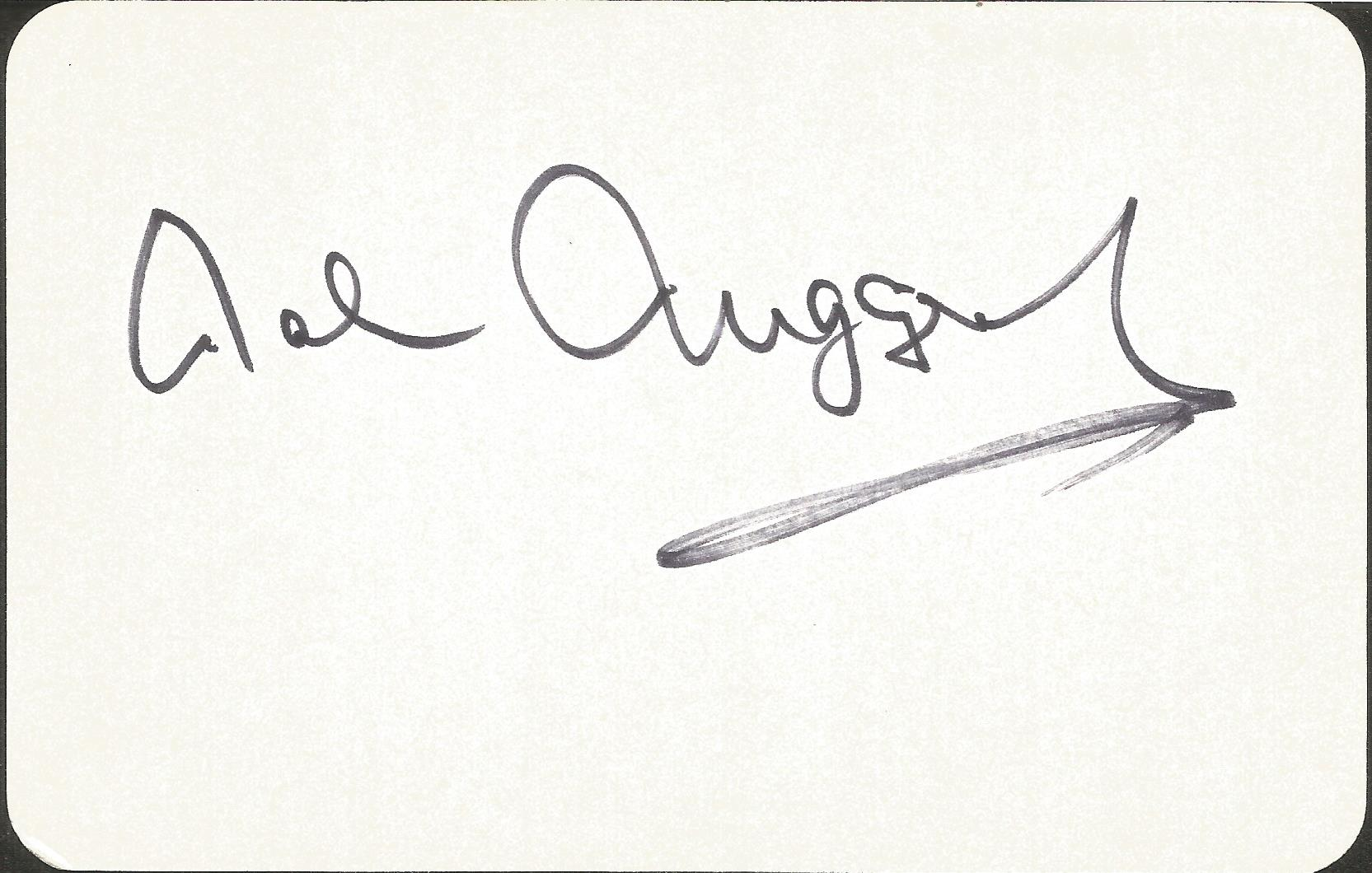 Malcolm Muggeridge signed 4 x3 cream card. Good condition. All autographs come with a Certificate of