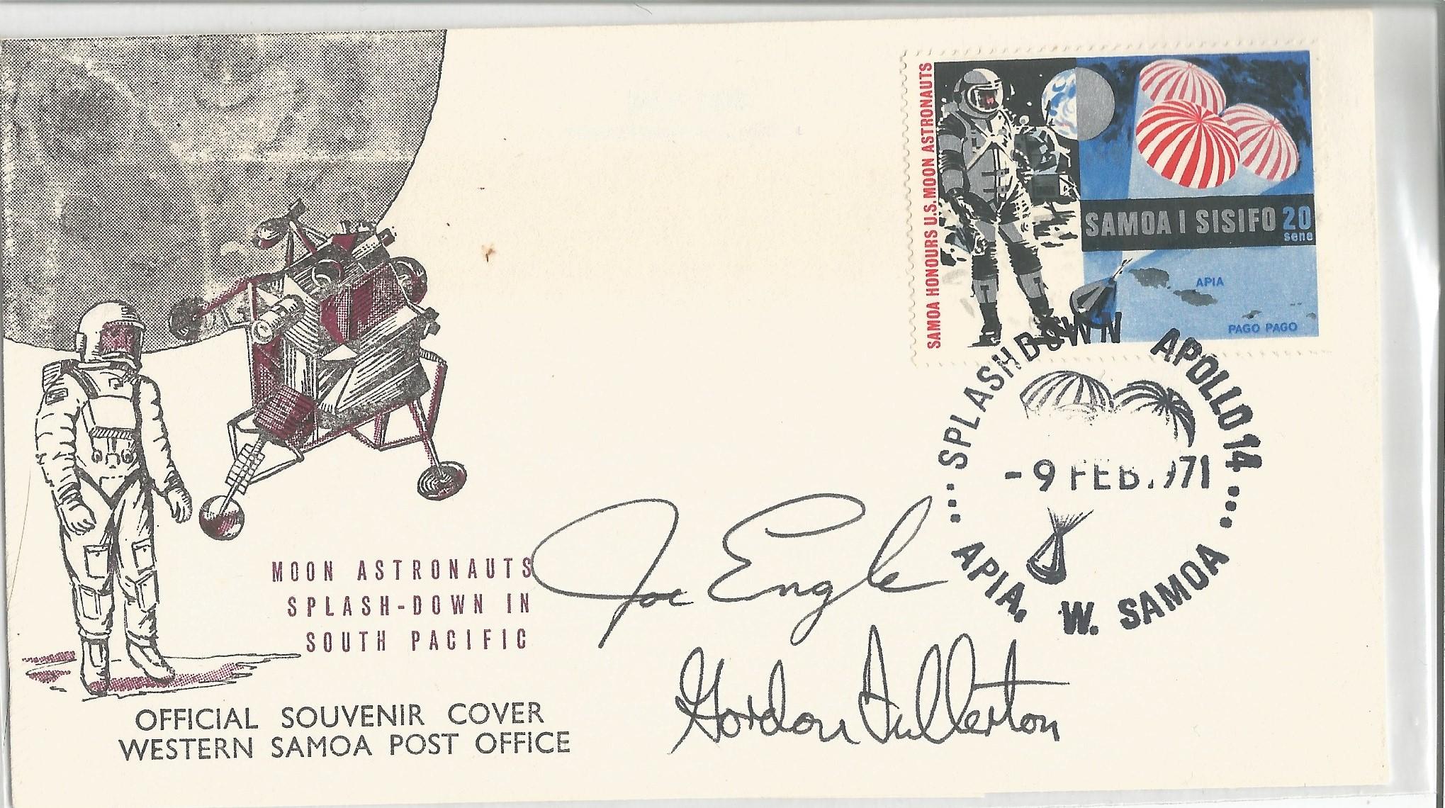 Astronauts Joseph Engle and Gordon Fullerton Signed Apollo 14 FDC. Apollo 14 Flight, February 9th,