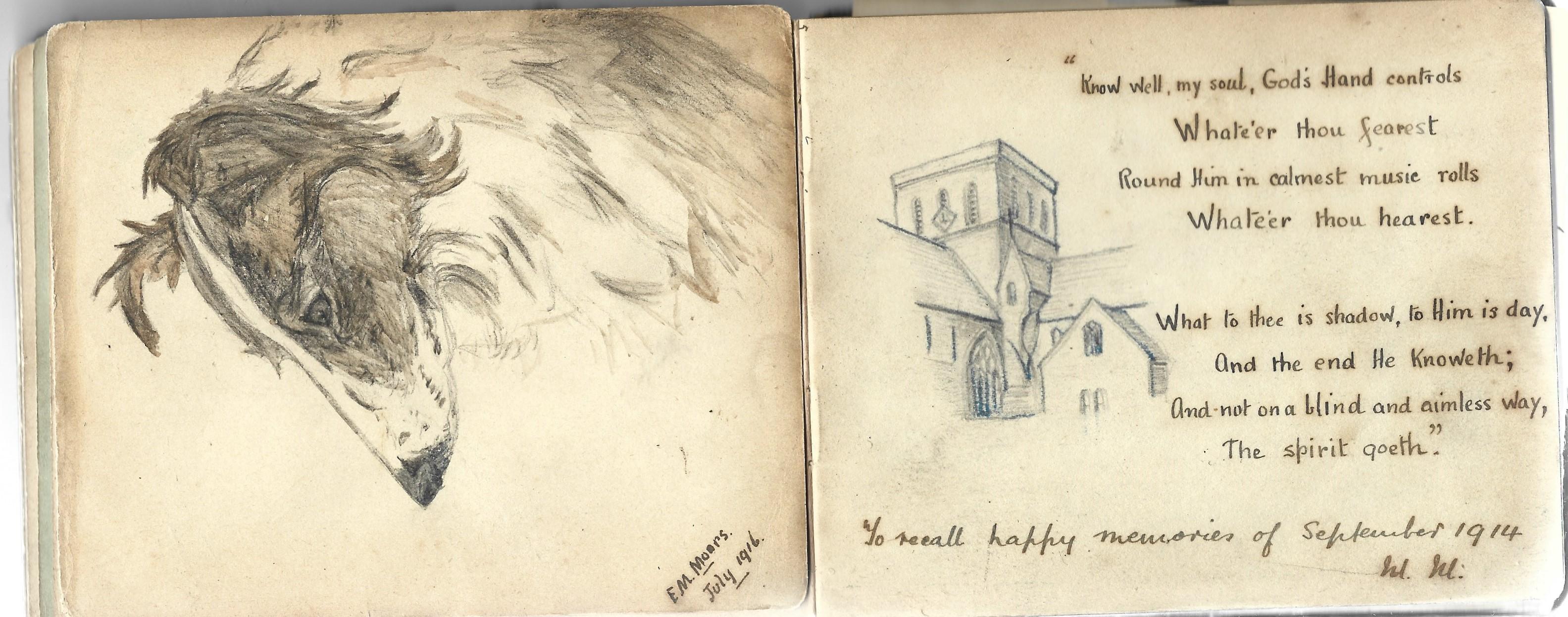 A World War 1 era autograph album, mostly comprising poignant poems and verses, a few original - Image 7 of 8