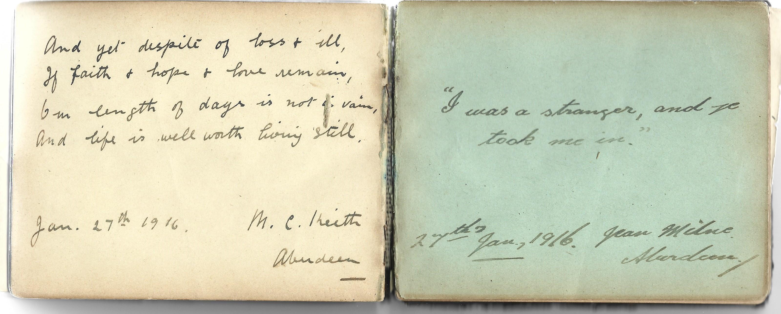 A World War 1 era autograph album, mostly comprising poignant poems and verses, a few original - Image 2 of 8