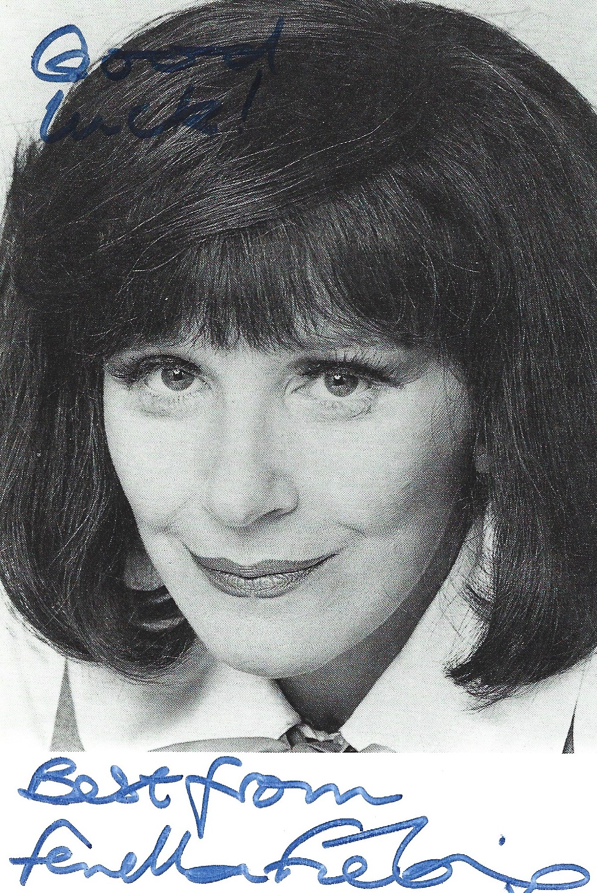 Fenella Fielding signed and inscribed 6x4 black and white photograph. Fielding was an English stage,