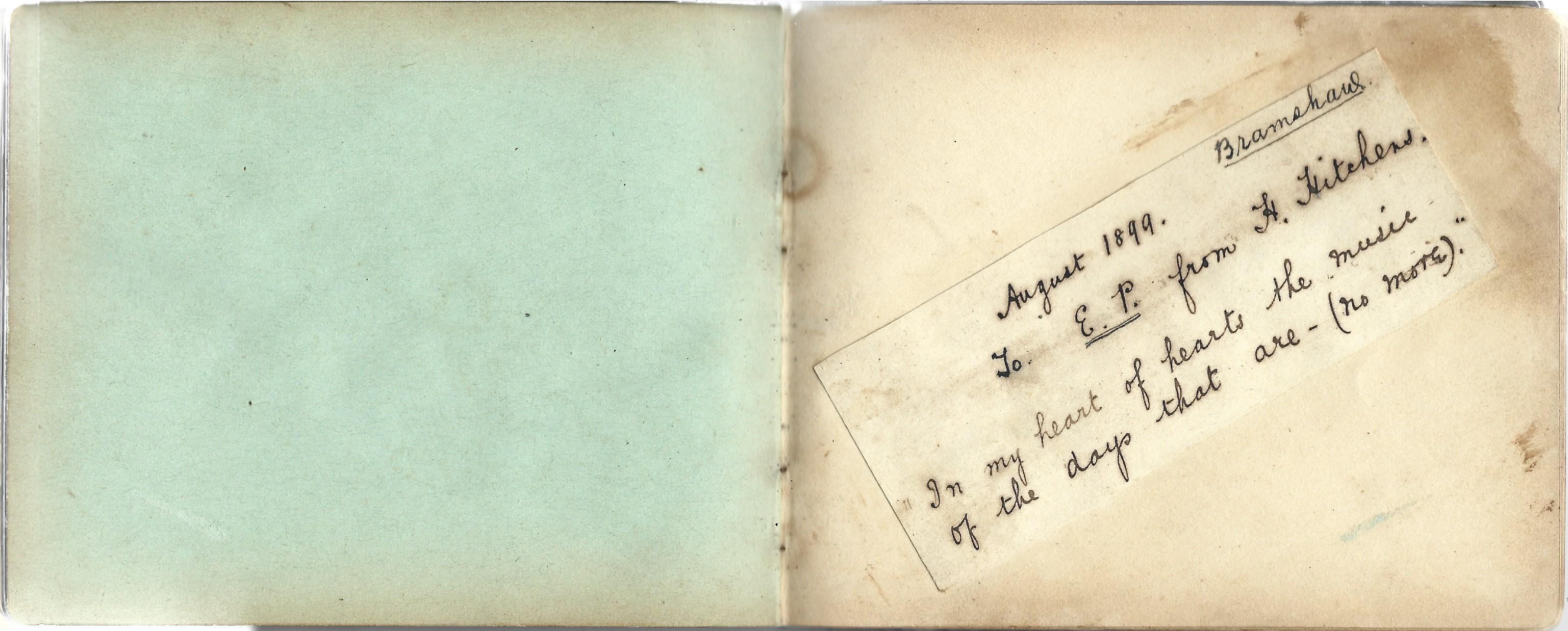 A World War 1 era autograph album, mostly comprising poignant poems and verses, a few original - Image 4 of 8