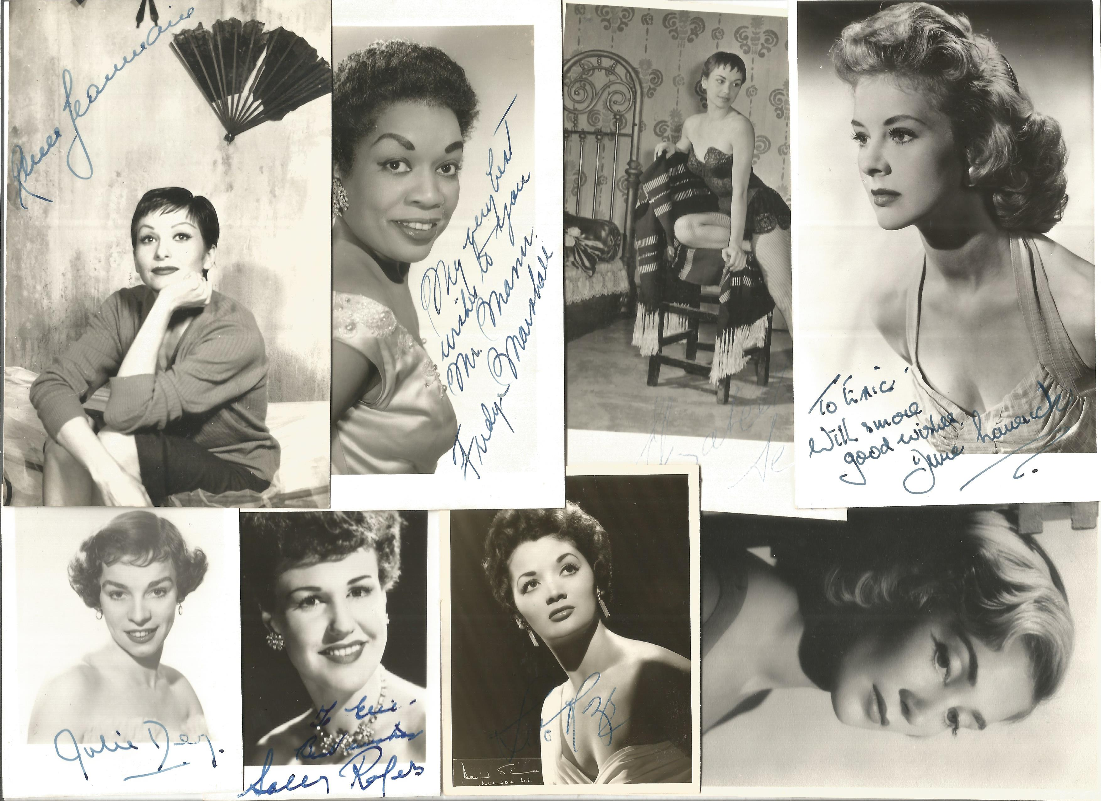 TV Film Actresses vintage signed photo collection. 30+ mainly 6 x 4 inch b/w photos. Good - Image 2 of 4