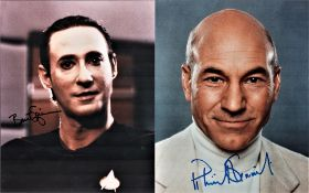 Star Trek collection, signed 10x8 colour photographs from Patrick Stewart and Brent Spiner as they