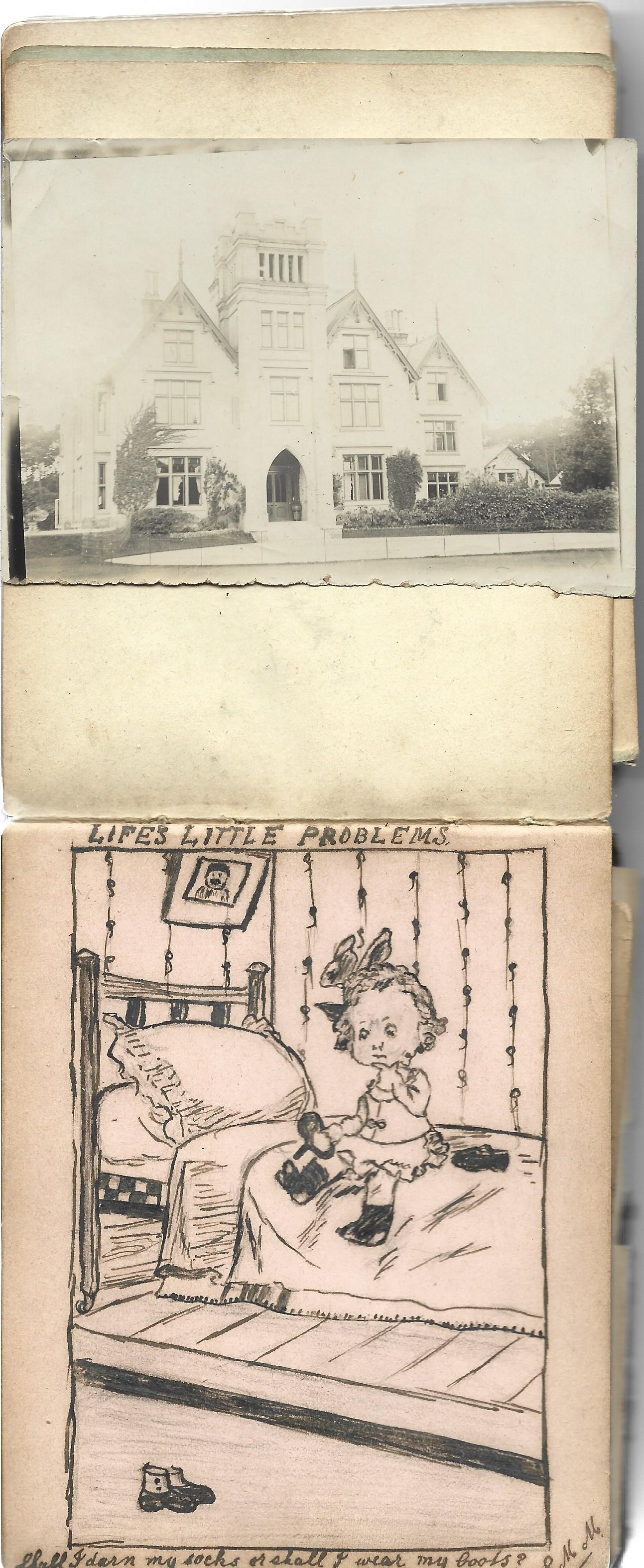 A World War 1 era autograph album, mostly comprising poignant poems and verses, a few original - Image 8 of 8