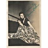 Maureen O'Hara signed 7x5 vintage black and white photograph. O'Hara was an Irish actress and