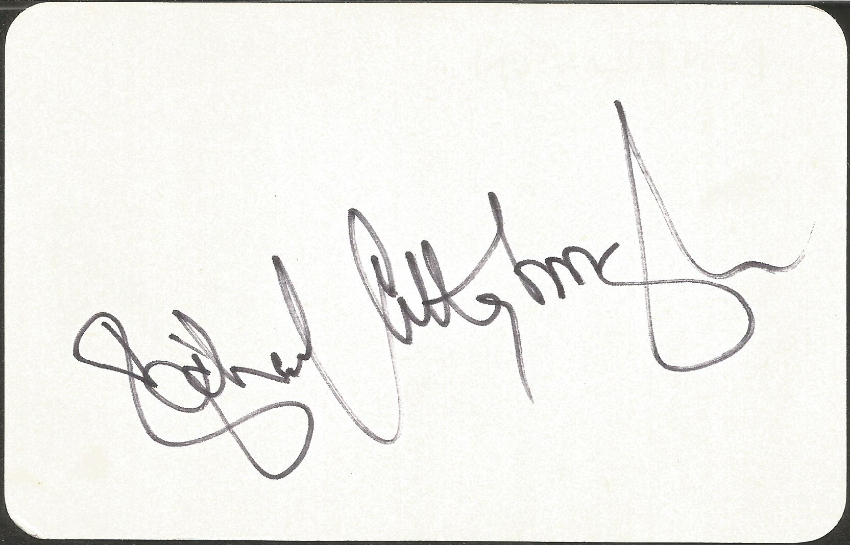 Richard Attenborough signed 4 x3 cream card. Good condition. All autographs come with a