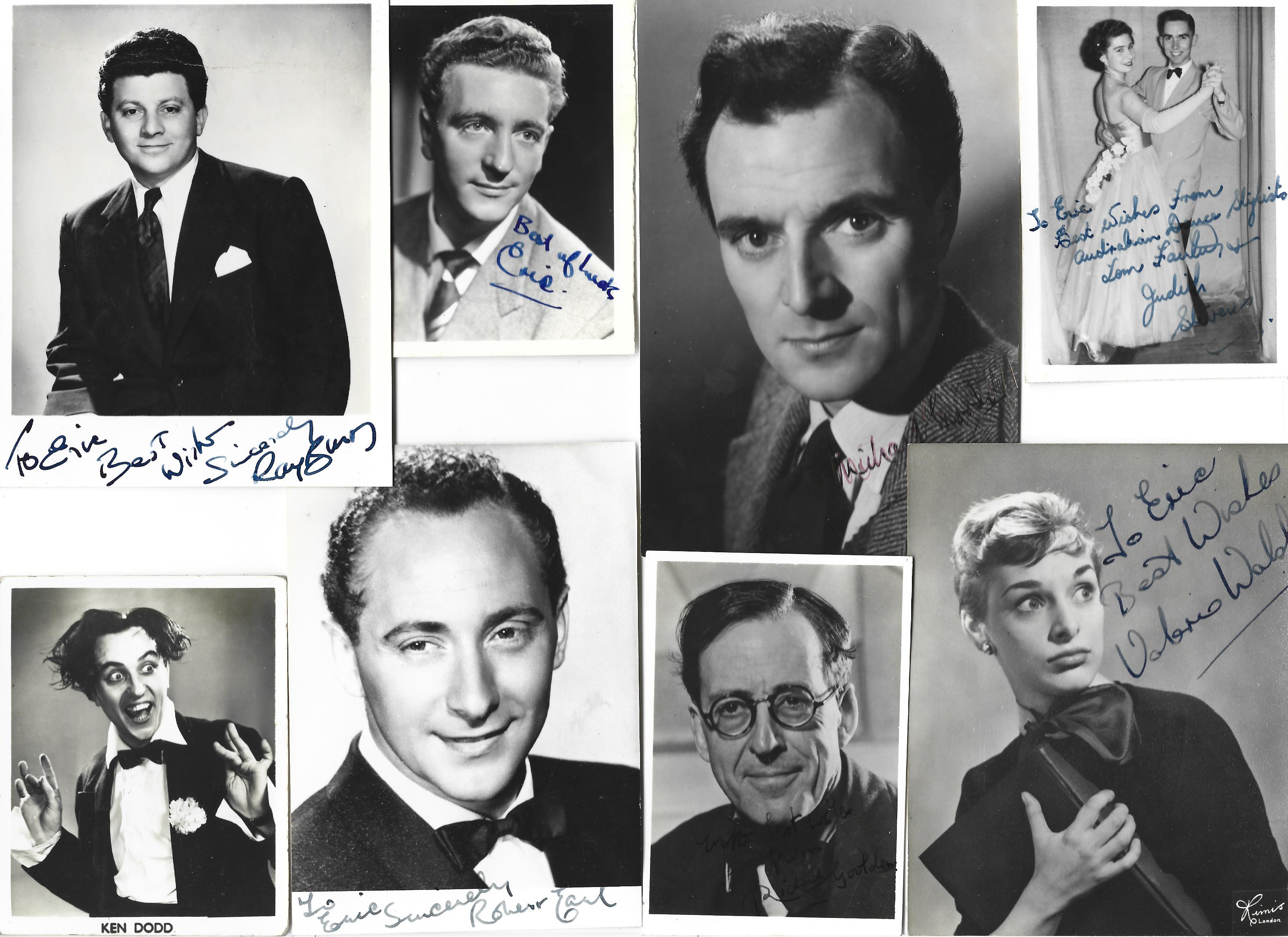 Vintage collection of 80 signed and 14 unsigned entertainment performers. Sizes vary from 9x7 to - Image 5 of 5