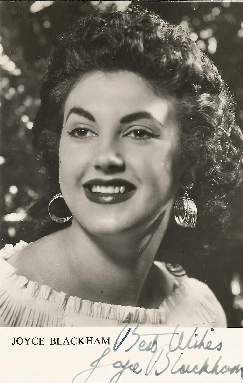 Joyce Blackham signed 5.5x3.5 black and white photo. Joyce Blackham (1 January 1934 - 4 June 2018)