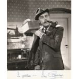 Ian Carmichael signed 10x8 black and white photo, from the collection of Savile Row tailor Ron