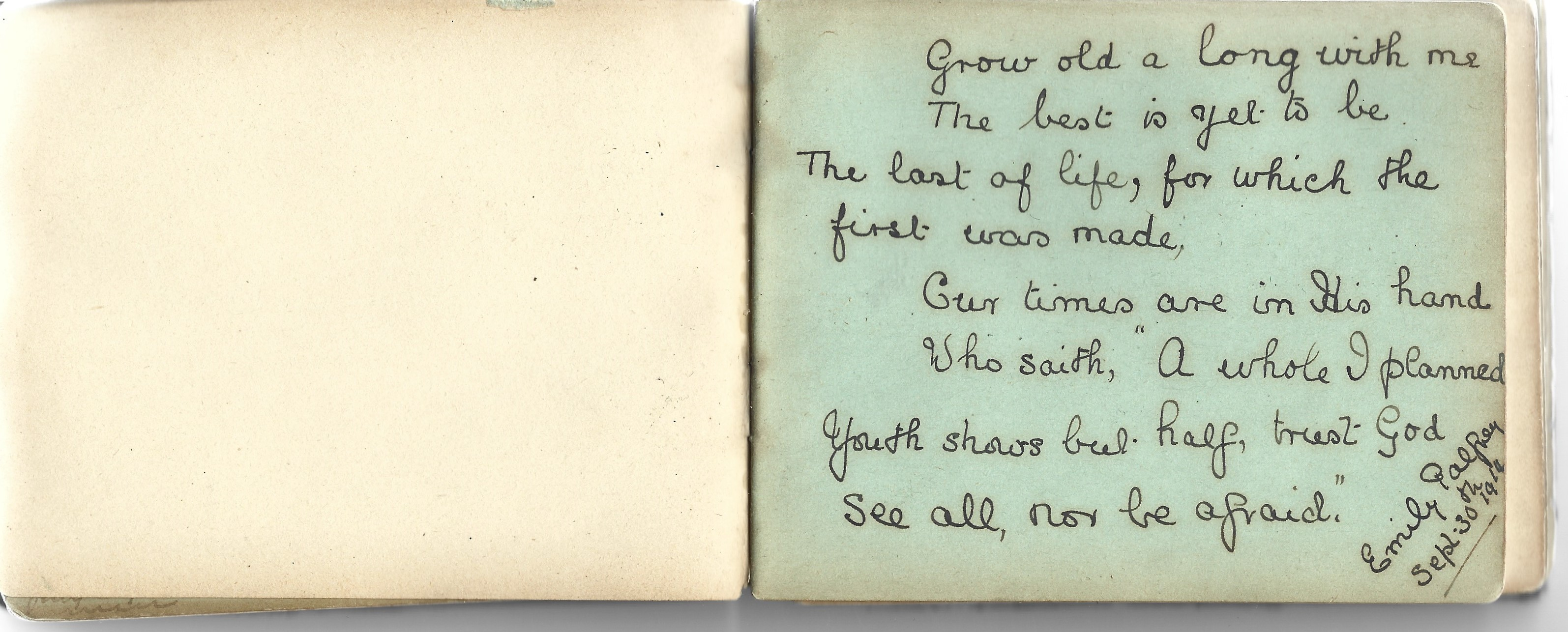 A World War 1 era autograph album, mostly comprising poignant poems and verses, a few original - Image 5 of 8