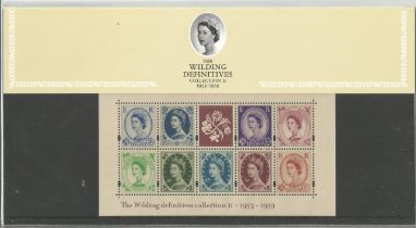 GB mint stamps Presentation Pack no 61 The Wilding Definitives collection 2 1953-1959, 2003. Good