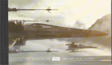 GB mint stamps Prestige Pack The making of Star Wars the British story, complete. Good condition. We