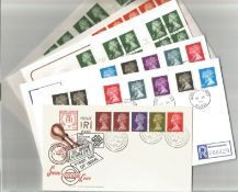 10 x Definitive FDCs with Stamps and Various FDI Postmarks, Includes Special Postmark Cover (Newport