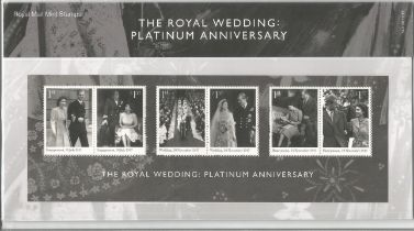 GB mint stamps Presentation Pack no 549 The Royal Wedding Platinum Anniversary 2017. Good condition.