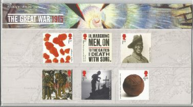GB mint stamps Presentation Pack no 511 The Great War 1915, 2015. Good condition. We combine postage
