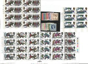 GB mint stamps, Includes 1966 Hastings (Phos) set in cylinder blocks fine unmounted, 1960 Wilding