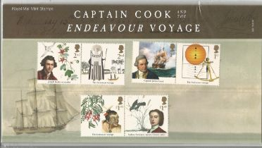 GB mint stamps Presentation Pack no 559 Captain Cook and the Endeavour Voyage 2018. Good