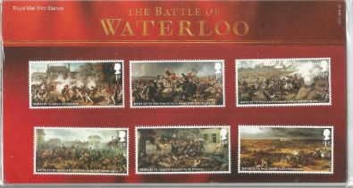 GB mint stamps Presentation Pack no 513 The Battle of Waterloo 2015. Good condition. We combine