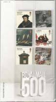 GB mint stamps Presentation Pack no 522 Royal Mail 500 2016. Good condition. We combine postage on