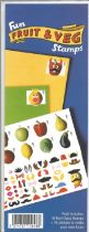 GB mint stamps Presentation Pack Fun Fruit & Veg Stamps + 76 stickers to make your own faces. Good
