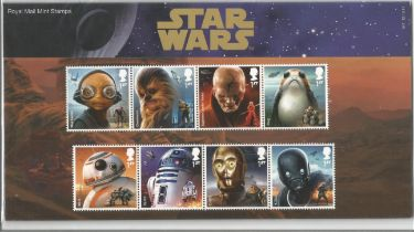 GB mint stamps Presentation Pack no 547 Star Wars 2017. Good condition. We combine postage on