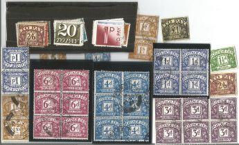 GB mint stamps, Includes 1959 GB Postage Dues crown watermark complete VFU set, 1970 GB Postage Dues