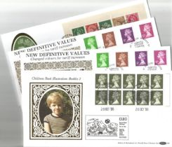 4 Benham Silk FDC with Stamps and FDI Postmarks, Includes Definitives (Limited Edition) (9 x Wilding