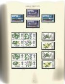 GB Mint Stamps £43+ face value A Windsor Loose-Leaf Album Full of QE II Stamps and Booklets Starts
