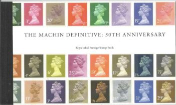 GB mint stamps Prestige Pack The Machin Definitive 50th Anniversary, complete. Good condition. We
