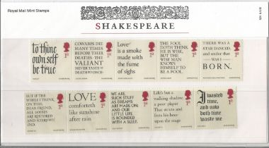 GB mint stamps Presentation Pack no 524 Shakespeare 2016. Good condition. We combine postage on