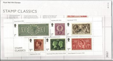 GB mint stamps Presentation Pack no 566 Stamp Classics 2019. Good condition. We combine postage on