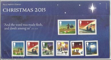 GB mint stamps Presentation Pack no 519 Christmas 2015. Good condition. We combine postage on