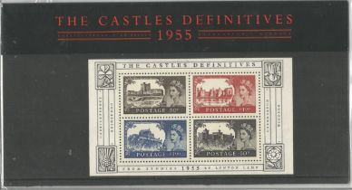 GB mint stamps Presentation Pack no 69 The Castles Definitives 1955, 2005. Good condition. We