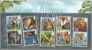 GB mint stamps Presentation Pack no 506 Alice in Wonderland 2015. Good condition. We combine postage
