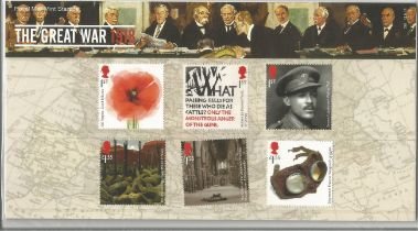GB mint stamps Presentation Pack no 561 The Great War 2018. Good condition. We combine postage on