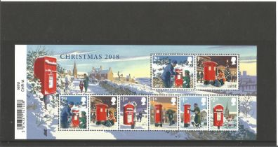 GB mint stamps Miniature Sheet Christmas 2018. Good condition. We combine postage on multiple