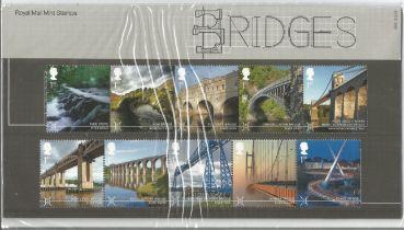 GB mint stamps Presentation Pack no 508 Bridges 2015. Good condition. We combine postage on multiple