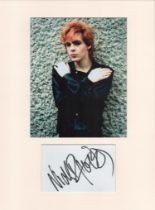 Nick Rhodes (Duran Duran) signature piece in autograph presentation. Mounted with photograph to
