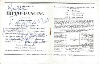 Hippo Dancing Vintage 1954 Theatre Programme Signed Inside By Robert Morley, Wilfred Hyde White,