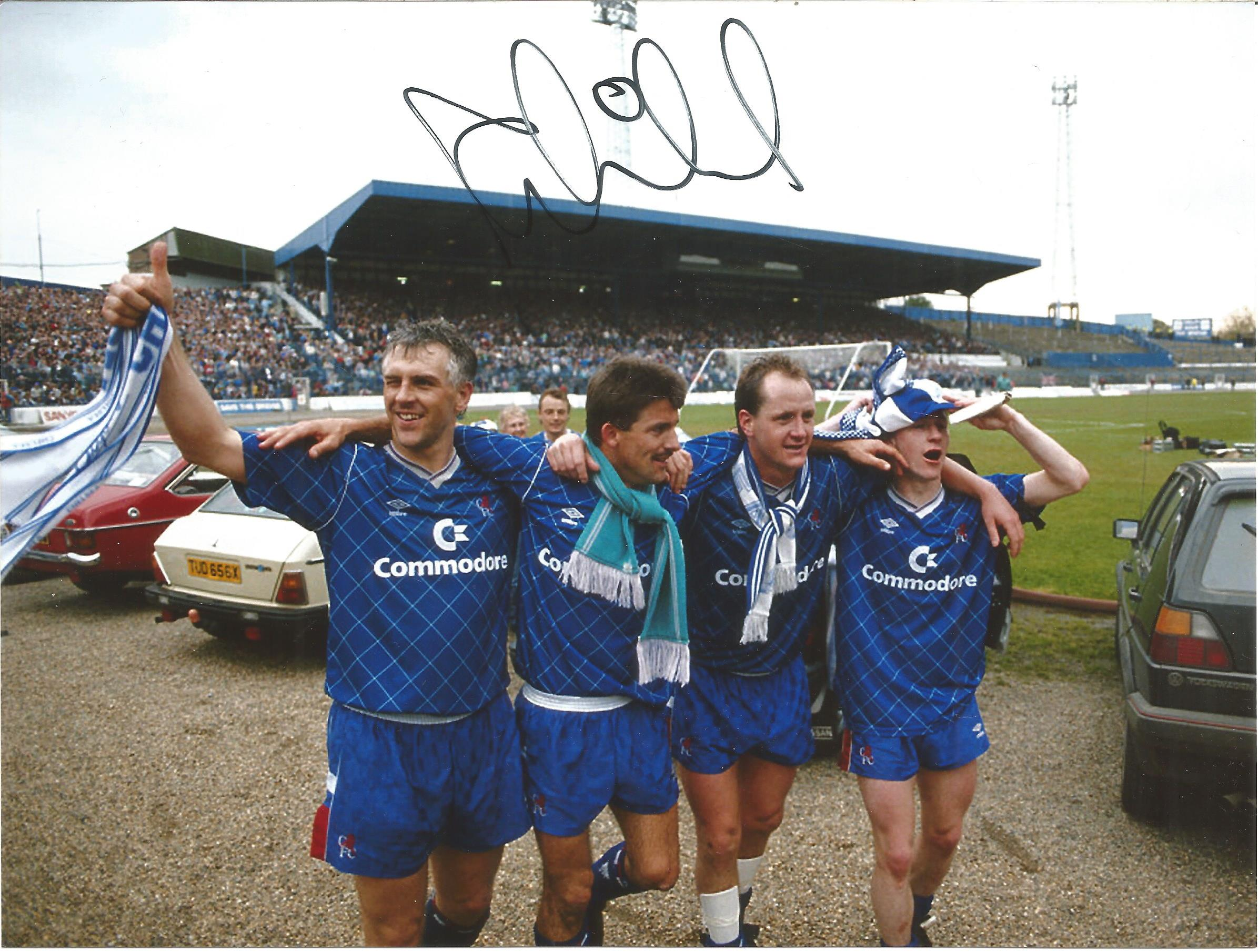 Football Autographed Chelsea 8 X 6 Photos Col & B/W, A Lot Of 8 Signed Photos Of Players From The - Image 3 of 4