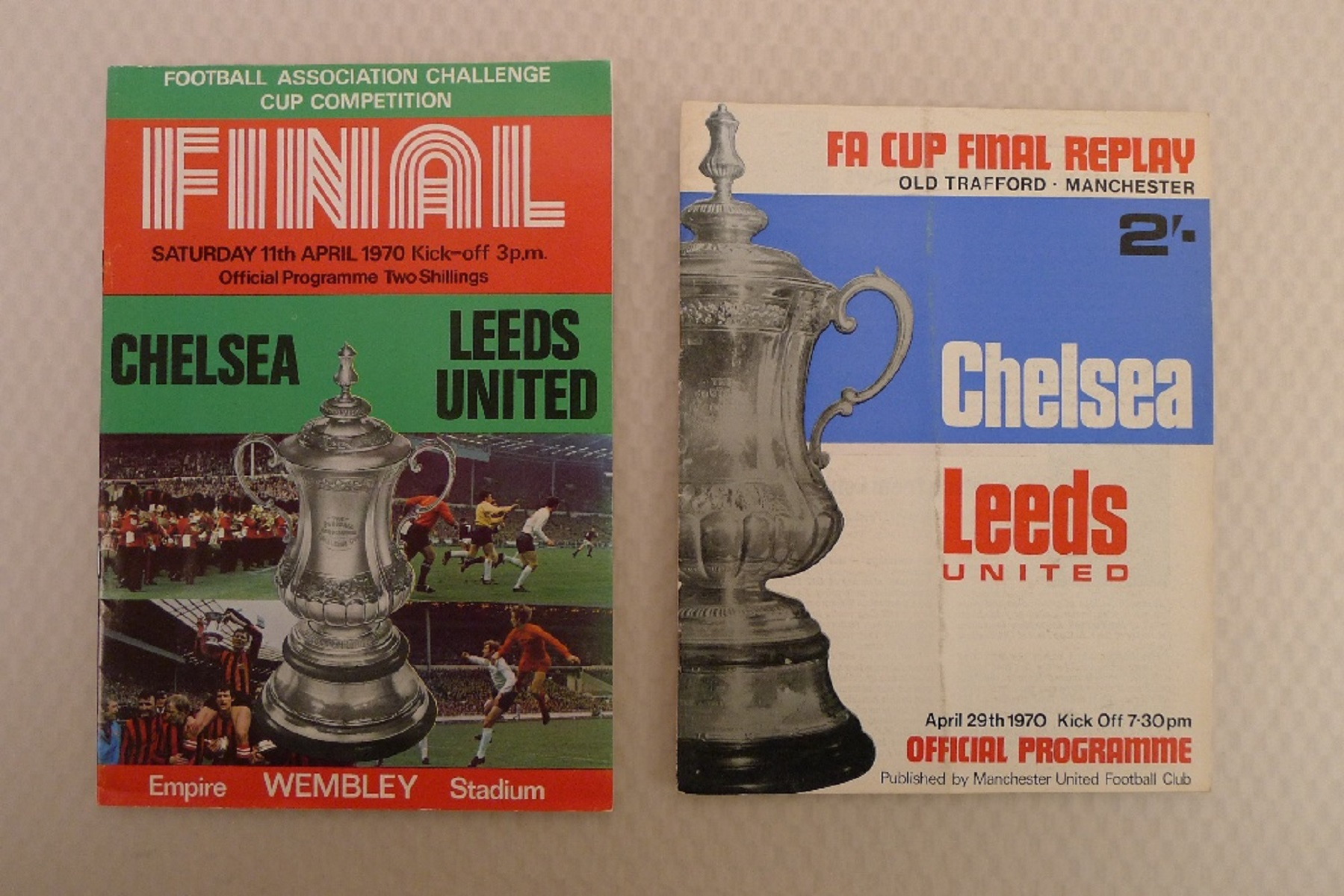FA Cup football programmes FA Cup 1970 Both of the FA Cup Final Tie 1970 programmes between