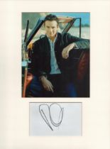 Russell Watson signature piece in autograph presentation. Mounted with photograph to approx. 16 x 12