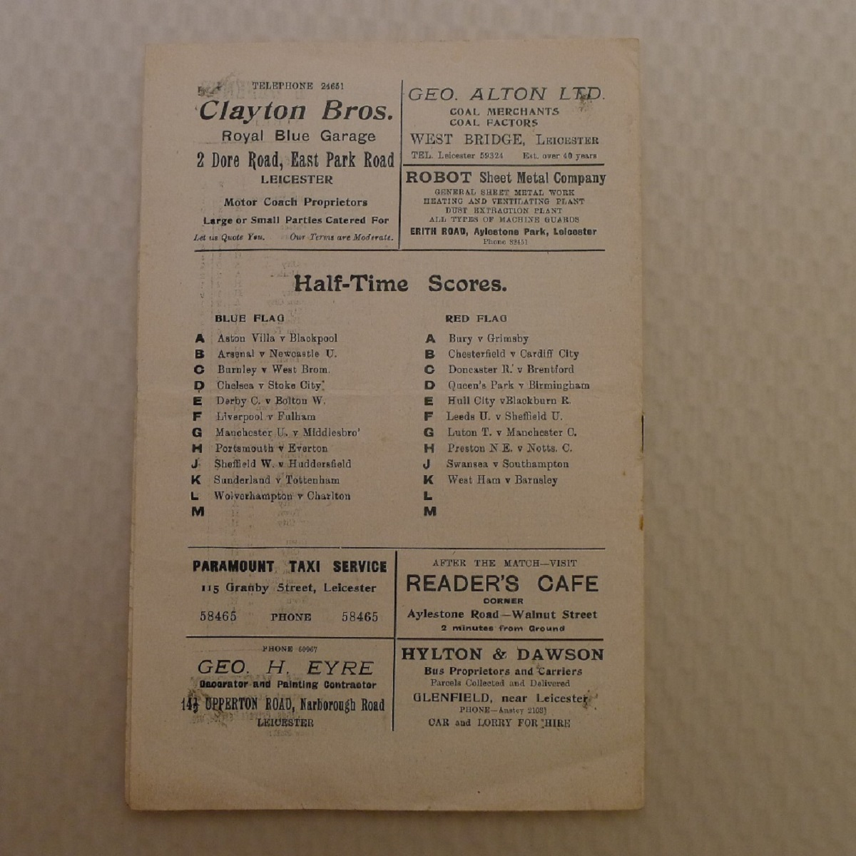 Vintage Football Programmes. 1 x Leicester City v Coventry City February 3rd, 1951, football - Image 3 of 3