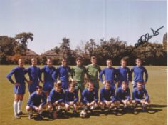 Football Autographed Chelsea 8 X 6 Photos Col & B/W, A Lot Of 8 Signed Photos Of Players From The