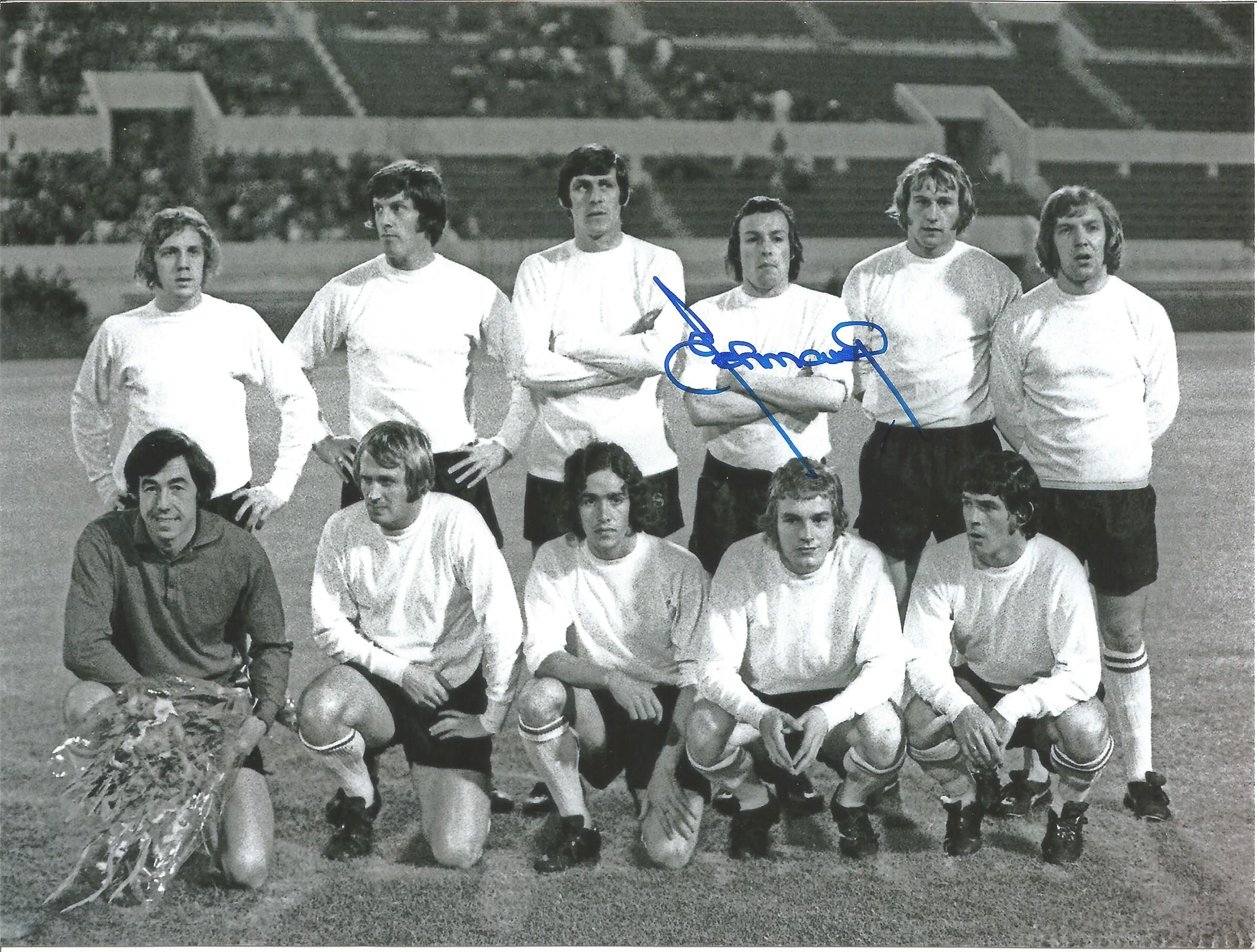Football Autographed Stoke City 8 X 6 Photos Col & B/W, Depicting Former Player John Marsh In 3